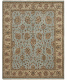 RugStudio presents Rugstudio Sample Sale 67566R French Blue Hand-Knotted, Good Quality Area Rug