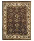 RugStudio presents Amer Oasis Siwa Chocolate / Beige Hand-Knotted, Good Quality Area Rug