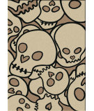 RugStudio presents American Dakota Motor Head Head Banger Natural Machine Woven, Good Quality Area Rug
