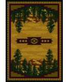 RugStudio presents American Dakota National Park Autumn Point Brown Machine Woven, Good Quality Area Rug