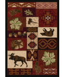 RugStudio presents American Dakota National Park Bear Creek Lodge Red Machine Woven, Good Quality Area Rug