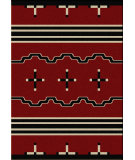 RugStudio presents American Dakota Voices Big Chief Red Machine Woven, Good Quality Area Rug
