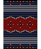 RugStudio presents American Dakota Voices Big Chief Blue Machine Woven, Good Quality Area Rug
