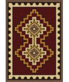 RugStudio presents American Dakota Voices Council Fire Red Machine Woven, Good Quality Area Rug