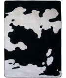 RugStudio presents American Dakota Motor Head Cowhide Black Machine Woven, Good Quality Area Rug