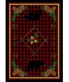 RugStudio presents American Dakota National Park Deep Woods Red Machine Woven, Good Quality Area Rug