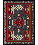 RugStudio presents American Dakota Voices Double Cross Gray Machine Woven, Good Quality Area Rug