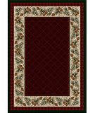 RugStudio presents American Dakota National Park Evergreen Red Machine Woven, Good Quality Area Rug