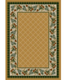 RugStudio presents American Dakota National Park Evergreen Yellow Machine Woven, Good Quality Area Rug