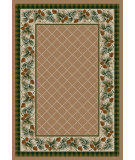 RugStudio presents American Dakota National Park Evergreen Brown Machine Woven, Good Quality Area Rug