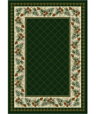 RugStudio presents American Dakota National Park Evergreen Green Machine Woven, Good Quality Area Rug
