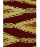 RugStudio presents American Dakota New Echota Finger Weave Red Machine Woven, Good Quality Area Rug