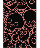 RugStudio presents American Dakota Motor Head Head Banger Pink Machine Woven, Good Quality Area Rug