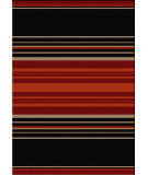 RugStudio presents American Dakota Camp Heart Strong Red Machine Woven, Good Quality Area Rug