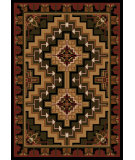 RugStudio presents American Dakota Cabin Hill Country Red Machine Woven, Good Quality Area Rug