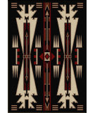 RugStudio presents American Dakota Voices Horse Thieves Black Machine Woven, Good Quality Area Rug