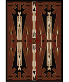 RugStudio presents American Dakota Voices Horse Thieves Brown Machine Woven, Good Quality Area Rug