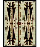 RugStudio presents American Dakota Voices Horse Thieves Natural Machine Woven, Good Quality Area Rug