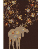 RugStudio presents American Dakota National Park Moose Blossom Chocolate Machine Woven, Good Quality Area Rug