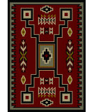 RugStudio presents American Dakota Voices Old Crow Red Machine Woven, Good Quality Area Rug