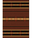 RugStudio presents American Dakota Camp Old Timer Brown Machine Woven, Good Quality Area Rug