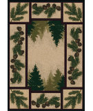 RugStudio presents American Dakota National Park Pine Forest Brown Machine Woven, Good Quality Area Rug