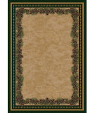 RugStudio presents American Dakota National Park Pine Mountain Green Machine Woven, Good Quality Area Rug