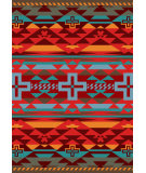 RugStudio presents American Dakota Trader Rugs Rustic Cross Red Machine Woven, Good Quality Area Rug