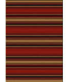 RugStudio presents American Dakota Camp Santa Fe Stripe Multi Machine Woven, Good Quality Area Rug