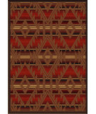 RugStudio presents American Dakota Voices Spirit Of Santa Fe Red Machine Woven, Good Quality Area Rug