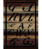 RugStudio presents American Dakota New Echota Syllabary Multi Machine Woven, Good Quality Area Rug