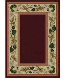 RugStudio presents American Dakota New Echota Three Sisters Burgundy Machine Woven, Good Quality Area Rug