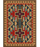 RugStudio presents American Dakota Voices Tribesman Brown Machine Woven, Good Quality Area Rug