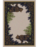 RugStudio presents American Dakota National Park Twin Bears Green Machine Woven, Good Quality Area Rug