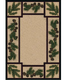 RugStudio presents American Dakota National Park Valley Forest Brown Machine Woven, Good Quality Area Rug
