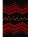 RugStudio presents American Dakota Voices War Path Black Machine Woven, Good Quality Area Rug