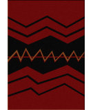 RugStudio presents American Dakota Voices War Path Red Machine Woven, Good Quality Area Rug