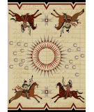 RugStudio presents American Dakota Voices War Records Natural Machine Woven, Good Quality Area Rug