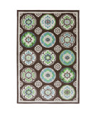 RugStudio presents American Rug Craftsmen Panoramic Clover Leaf Brown Machine Woven, Good Quality Area Rug