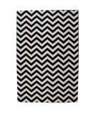 RugStudio presents American Rug Craftsmen Panoramic Herringbone Black Machine Woven, Good Quality Area Rug