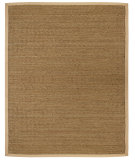 RugStudio presents Anji Mountain Seagrass Saddleback Sisal/Seagrass/Jute Area Rug