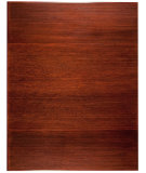 RugStudio presents Anji Mountain Bamboo Chair Mat Tri-Fold No Lip Dark Cherry Area Rug