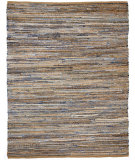 RugStudio presents Anji Mountain American Graffiti Graphite Denim And Jute Woven Area Rug