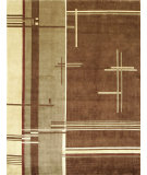 RugStudio presents Bashian Tribeca P256 Chocolate Hand-Knotted, Better Quality Area Rug