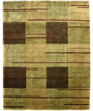 RugStudio presents Bashian Tribeca P260 Green Hand-Knotted, Better Quality Area Rug