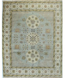 RugStudio presents Bashian Vintage I123-Hsa111 Light Blue Hand-Knotted, Good Quality Area Rug