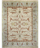 RugStudio presents Bashian Vintage I123-Hsa101 Ivory - Blue Hand-Knotted, Good Quality Area Rug