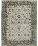RugStudio presents Bashian Vintage I123-Hsa112 Ivory - Grey Hand-Knotted, Good Quality Area Rug