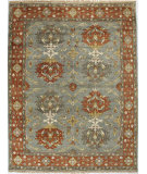 RugStudio presents Bashian Vintage I123-Hsa108 Slate Hand-Knotted, Good Quality Area Rug