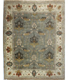 RugStudio presents Bashian Vintage I123-Hsa109 Slate Hand-Knotted, Good Quality Area Rug